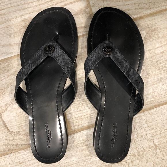 a32f936df8d7 Coach Shelly Flip Flop Thong Sandals